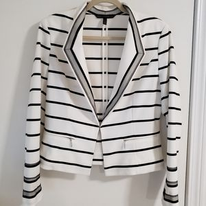 White House Black Market Striped Suit Jacket